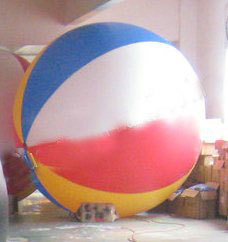 6.5ft Diameter Inflatable Beach Ball Helium Balloon for Advertisement in Colorful ao058h 2m helium balloon ball pvc helium balioon inflatable sphere sky balloon for sale