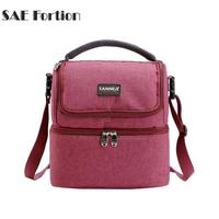 1 Pcs 7L Oxford Cloth Insulated Bag Outdoor Picnic Portable Lunch Box 4 ColorsWaterproof And Thickened