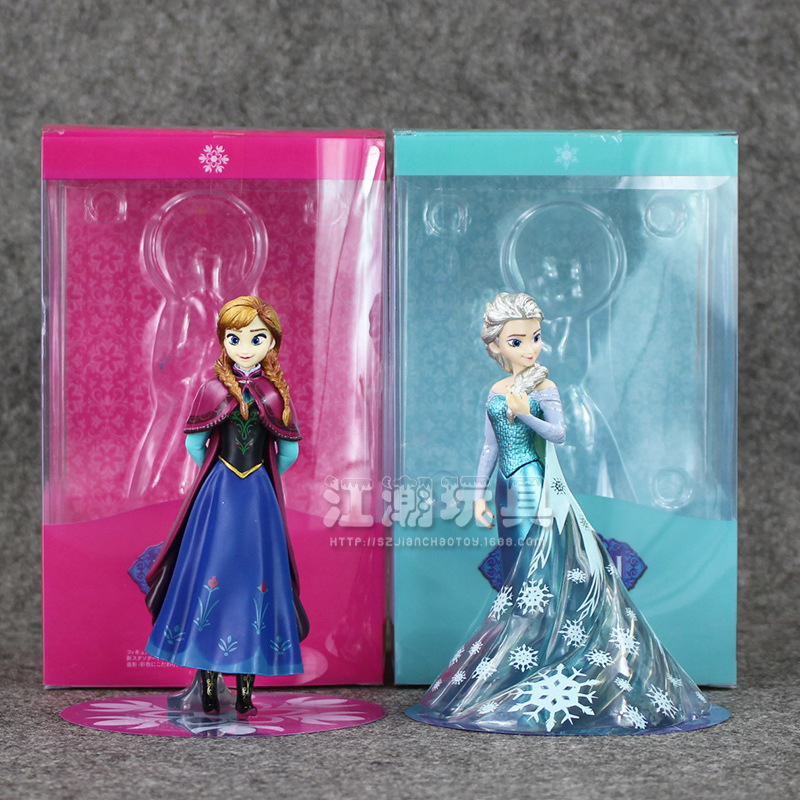 Frozen Disney Elsa Princess Anne PVC Action Figure 14CM With Box Collection Model Anime Brinquedos Best Gifts for Girls 6 piece 10 14cm super mario action figure evade glue fair young car furnishing articles model holiday gifts ornament box packed