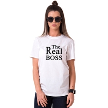 Real Boss Printed Couple Matching T-Shirt