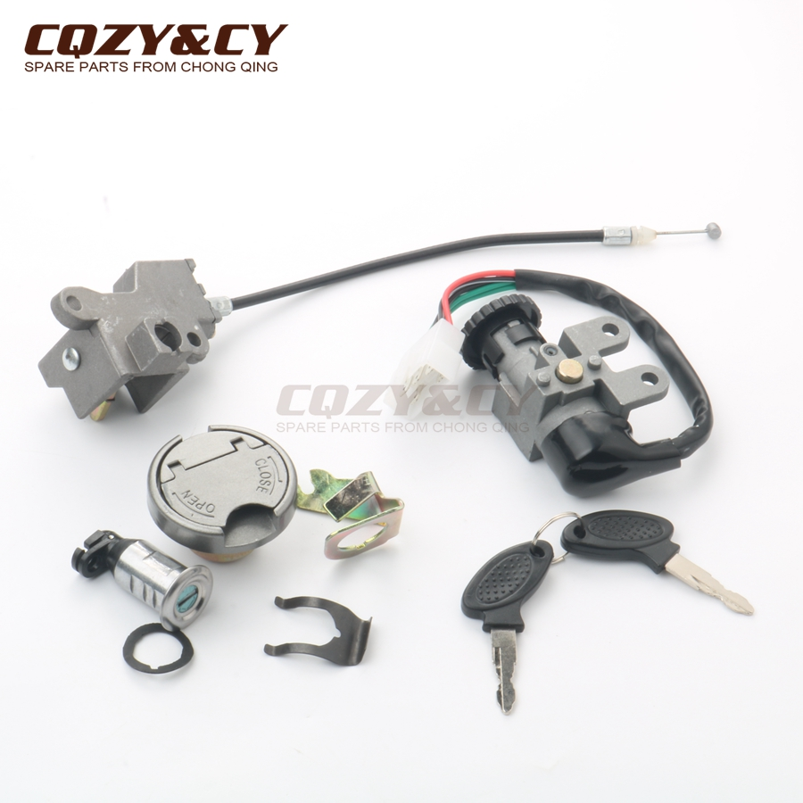 uxcell 3-Wire Motorcycle Scooter Security Ignition Switch Lock w Two Keys