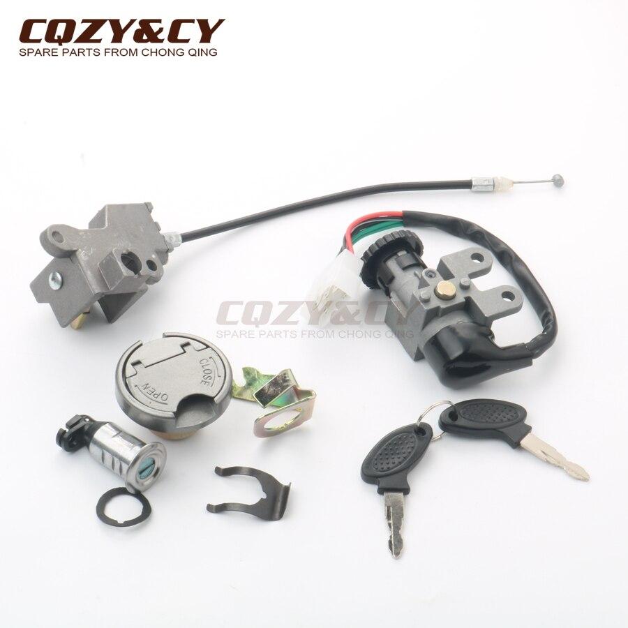 Scooter Ignition Lock & Key Set For Baotian BT49QT 50cc 4-stroke