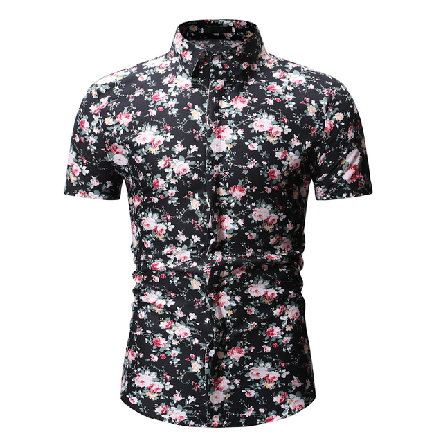 cf07c8950 Hawaiian Shirts New Men Retro Floral Printed Street Wear Fashion Casual  Classic Short Sleeve Beach Holiday Party Flower Shirt