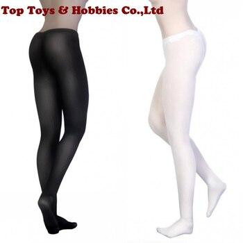1/6 Escala Fêmea Meias Meias Arrastão Meia-calça Net stocking Preto/Cor Branca Para 12 Polegadas Figura Feminina Acessórios Do Corpo