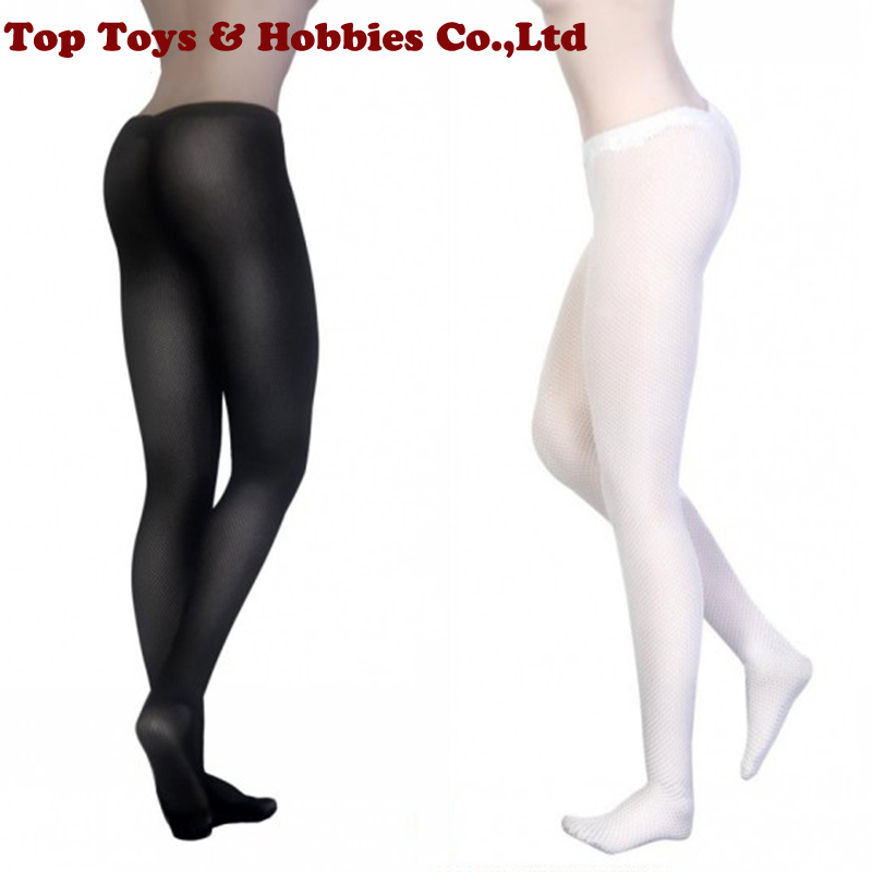 1/6 Scale Female Stockings Socks Fishnet  Pantyhose Net Stocking Black/White Color For 12 Inches Female Figure Body Accessories