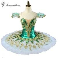 ירוק Pincess Florina מפצח אגוזים תלבושות בלט בנות חצאיות טוטו שלב בלט מקצועי טוטו פנקייק המבוגר ב 8 צבעים BT9134H