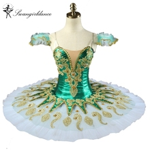 Green Pincess Florina nutcracker ballet costume girls professional ballet stage tutus adult pancake tutu in 8colors BT9134H