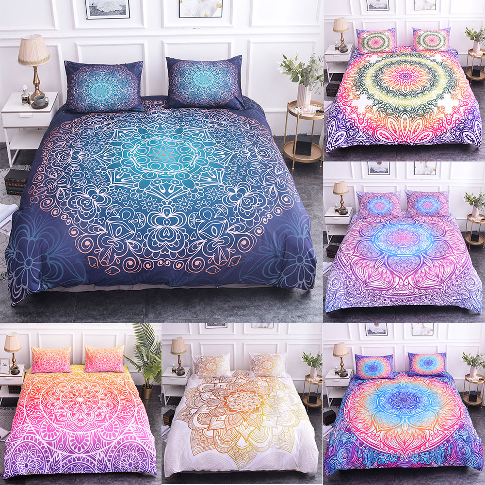 Bedding-Sets Bedspread Duvet-Cover-Set Pillow-Case Mandala Bohemian Luxury Home-Textiles title=