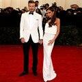 Novo Design de Moda Masculina Considerável Ternos Padrinho de Casamento Smoking Xaile Lapela Um Botão Branco (paletó + Calça + gravata)