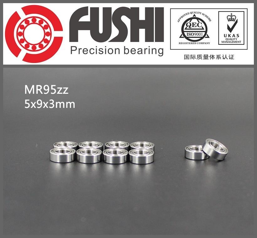 MR95ZZ Bearing 5*9*3 mm ( 10 PCS) ABEC-1 Miniature MR95 ZZ Ball Bearings MR95Z L-950ZZ 1pcs 71901 71901cd p4 7901 12x24x6 mochu thin walled miniature angular contact bearings speed spindle bearings cnc abec 7