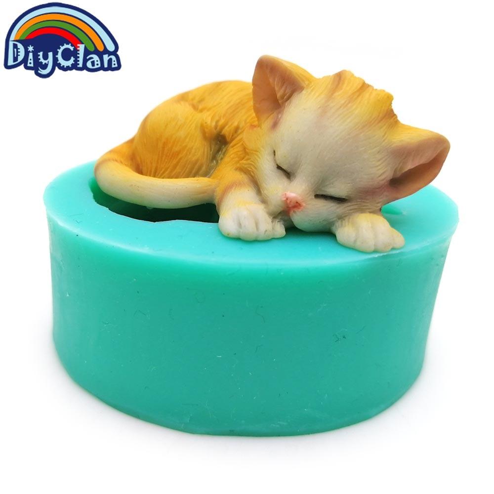 3D gatitos de silicona fondant moldes de pastel encantador gato - Cocina, comedor y bar - foto 5