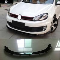 Golf 6 H2 style Carbon fiber front Bumper lip for Volkswagen Golf6 MK6 GTIbumper H2 style 11 13