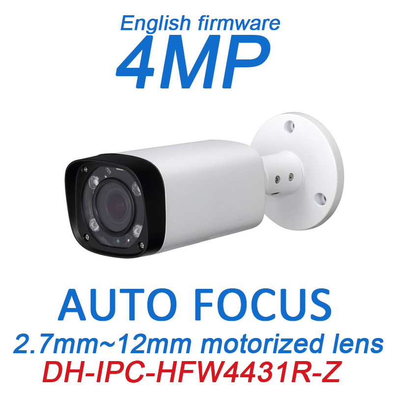 DH 4MP POE CCTV camera iPC-HFW4431R-Z 2.8~12mm Varifocal Motorized Lens English firmware IR Network IP Bullet Camera NO LOGO 15pcs lot free dhl shipping dahua 3 0mp 2 7mm 12mm motorized network ir bullet camera security ir water proof ipc hfw2300r z