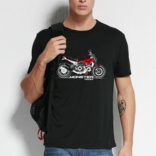 KODASKIN Motorcycle Style 100% Cotton for DUCATI Monster 1200  Casual Short Sleeve O-Neck T Shirt