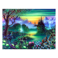 ZHIYI Diy Diamond Painting 3D Diamond Embroidery Scenic Pictures Of Rhinestones Hobbies And Crafts Material For