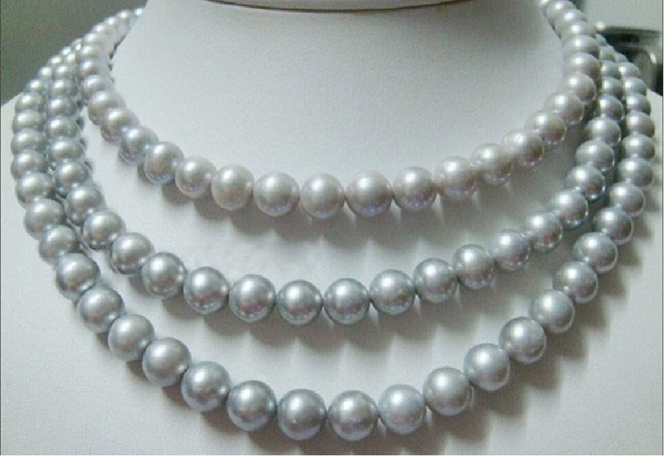 Natural 3row 6-7/MM WHITE NATURAL PEARL NECKLACENatural 3row 6-7/MM WHITE NATURAL PEARL NECKLACE