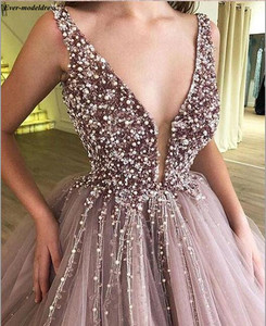 Image 3 - Gorgeous Quinceanera Dresses Ball Gowns Beaded Zipper Back Floor Length Long Sweet 16 Quinceanera Gowns Birthday Party Dresses