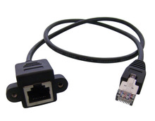 60cm Screw Lock Panel Mount RJ45 RJ-45 Cat5 Male to Female M/F LAN Ethernet Network Extension Cable + Screws