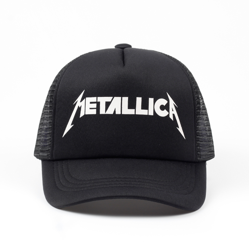 2018 Women Men Cool Rock Black   Baseball     Caps   Metallica Band Fans   Cap   Metal Rock Music Fans Cotton   Baseball   Trucker   Caps   Hat