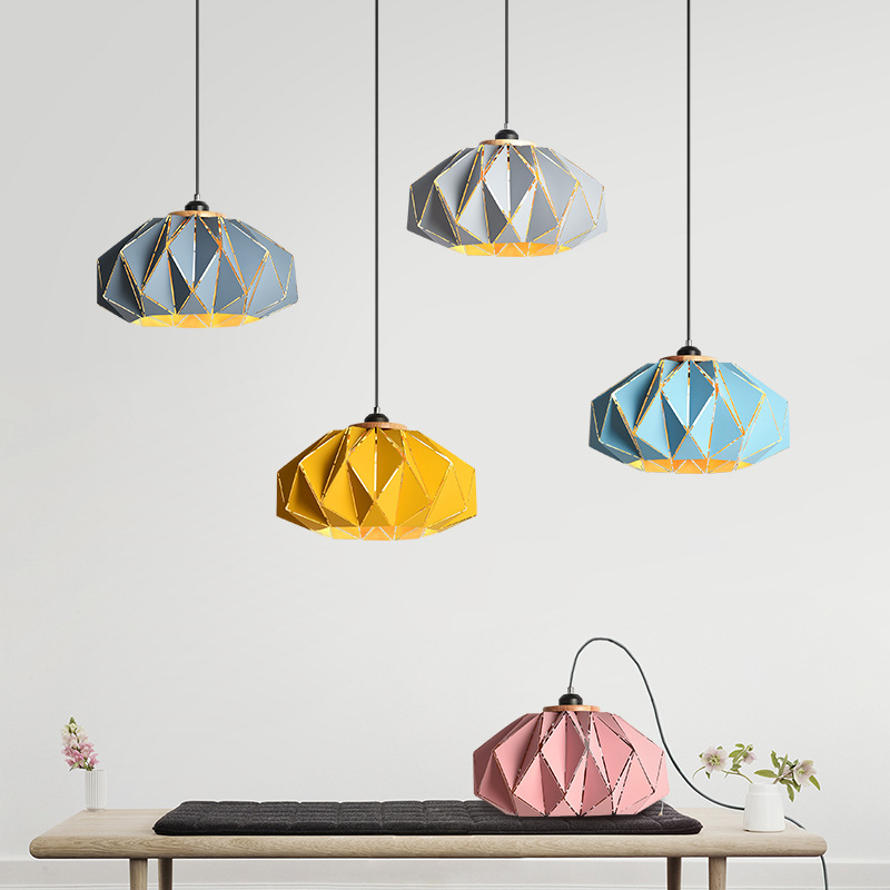 Art Deco Modern Metal Pendant Light Multi Color Wood Macarons Home Light Restaurant Dining Room Pendant Lamp Drop Pendant Light deco home вешалка