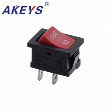 15PCS  KCD1-116A-2P DPDT 2 Pins Momentary Illuminated Mini Rocker Switch with Red button цена в Москве и Питере