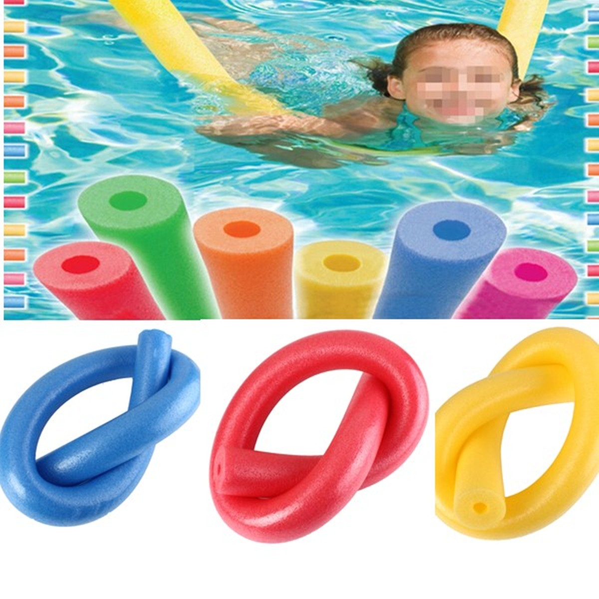 Flexible Swimming Pool Floating Pool Noodle Foam Water Noodle Aid Assistant Tools Kids Adult Learn Swimming Foam