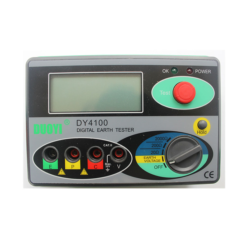 Megohmmeter 0-2000 Ohm Real Digital Earth Tester DY4100 Ground Resistance Tester Meter цена