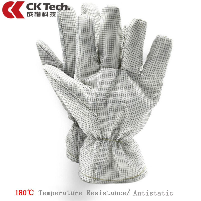 CK Tech.180℃Temperature Resistant Safety Gloves Fire Retardant Anti-static Work Gloves for Electronic Factory Dust-free Workshop