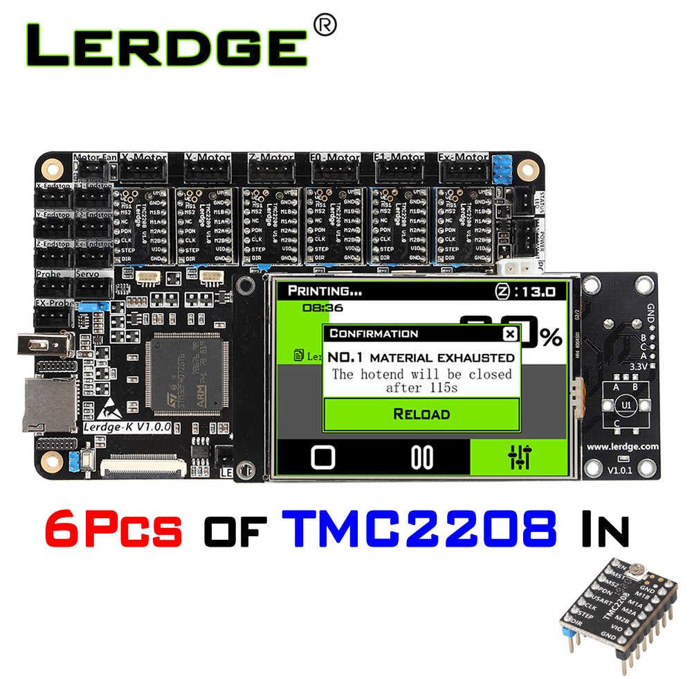LERDGE 3D บอร์ดเครื่องพิมพ์แขน 32Bit Controller เมนบอร์ด 3.5 นิ้วชุด Diy mainboard  PT100 TMC2208 LV8729 สำหรับ Ender 3 CR10