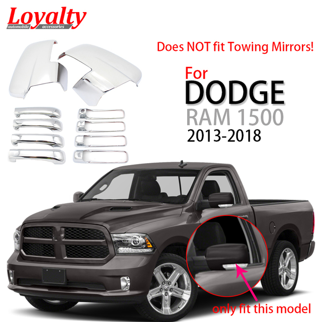 Loyalty Chrome Auto Part For 2017 2016 2018 Dodge Ram 1500 Side View Mirror 4 Door Handle Cover Car Styling
