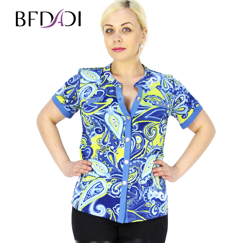 Bfdadi 2016 fashion brand geometry blouses shirts women v for Top dress shirt brands
