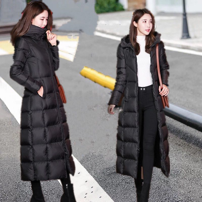 Veste Nouveau Solide Manteau Taille À La Chaud Bas Couleur Épais D'hiver Plus Vêtements Vers Capuchon Black Le Parka Rembourré Coton Femelle r68fqFr