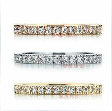 Micro Pave Wedding Band Synthetic Diamonds Ring For Women Anniversary Sterling Silver Jewelry Semi Mounting Promotion Price
