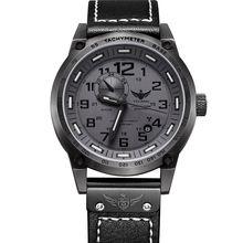 YELANG V1015 черный количество трития световой 4 руки мужчины автоматические механические наручные часы с механическим движением
