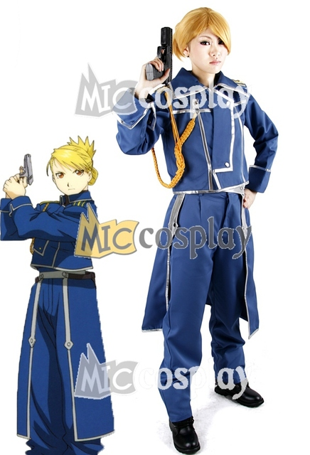 Anime New Hot FullMetal Alchemist Riza Hawkeye Military Cosplay Costume National Arm Uniform Halloween Party Clothing