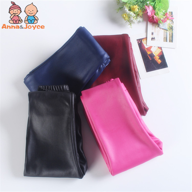 Imitation Leather Pants Children Trousers And Pile Thickening New Children Clothing Winter Bottomwear Leather Pants Trousers baile anal beads розовая анальная цепочка