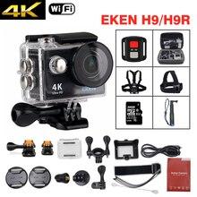 EKEN H9/H9R Экшн-камера Ultra HD 4 К/25fps Wi-Fi 2.0LCD 170D Водонепроницаемый подводный шлем cam мини камеры Спорт DV