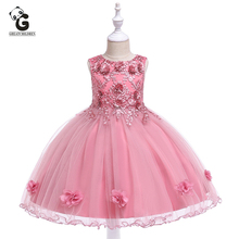 Girls Party Dress Flower Lace Kids Dresses for Girls Princess Birthday Dresses Formal Floral Wedding Girl Prom Dress for 3 12Y недорого