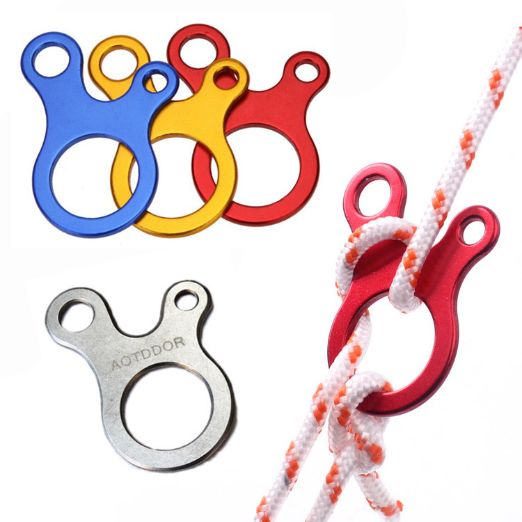 5pcs Quick Knot Anti Slip Aluminum Alloy Tent Wind Rope Buckle Accessory Camping