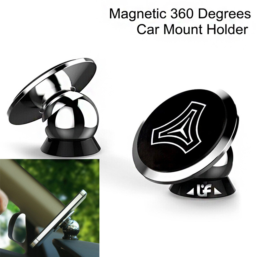 Universal UF V Magnetic Car Mount Holder Sticky Stand for Samsung iPhone GPS 360 Degrees Alloy