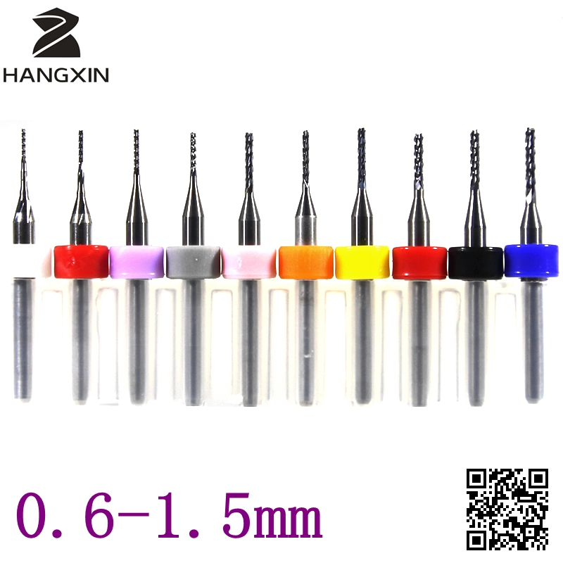 PCB Cutting Machine 0.6-1.5mmCNC Router Metal Wood End Milling Cutter Mini Carving Tools Tungsten Carbide 10PCS high steady cost effective wood cutting mini cnc machine milling