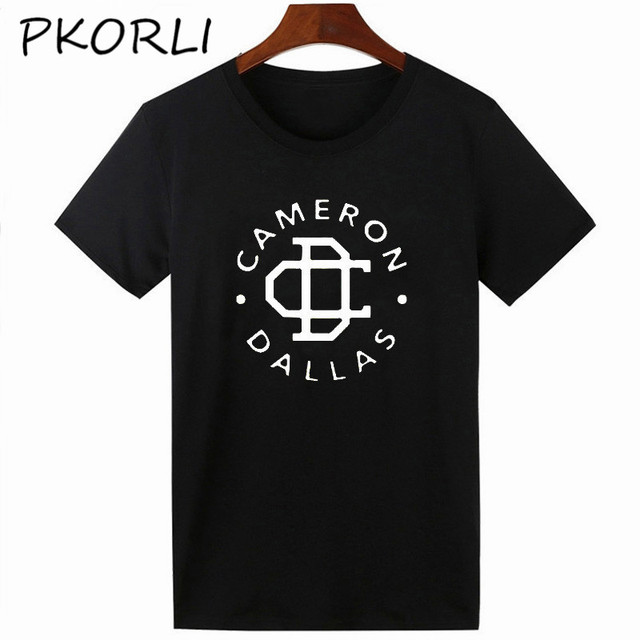 Pkorli Funny T-Shirt Female CAMERON DALLAS IS MY BOYFRIEND T Shirt Women Cotton Short Sleeve Tumblr Clothing Tops