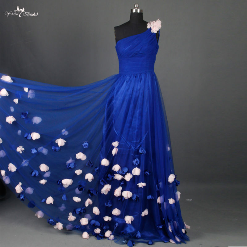 aliexpresscom buy rse661 elegant long royal blue prom