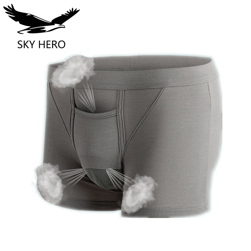 NG Underwear Men Boxers Cuecas Underpants For Man Onderbroek Heren Function Mens Boxer Bullet Separation Bag Cremaster Scrotal