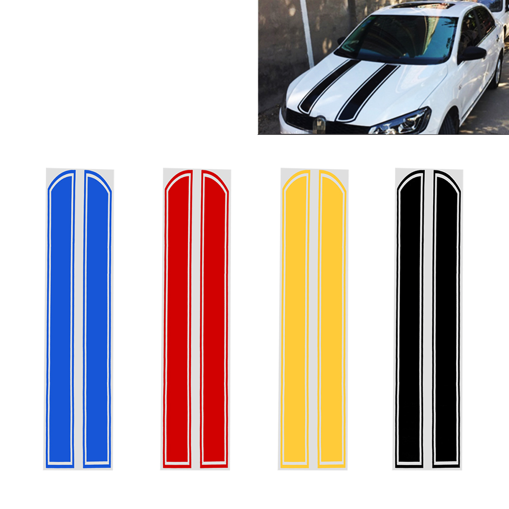 DIY Hood Reflective Engine Cover Decoration Stripe Car Styling Car Stickers and Decals Auto Motorcycle Sticker 16 strips motorcycle accessories 7 colors car styling decals 17 or 18 inch car stickers wheel rim sticker reflective tape