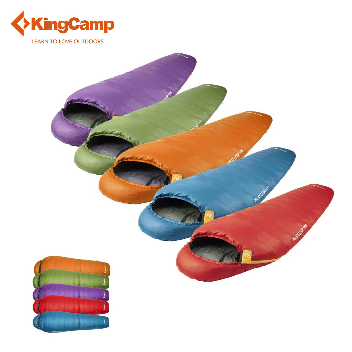 KingCamp Lazy Bag Outdoor Winter Mummy Sleeping Bag Spring & Autumn Down Sleeping Bag for Camping Equipment Five Colors