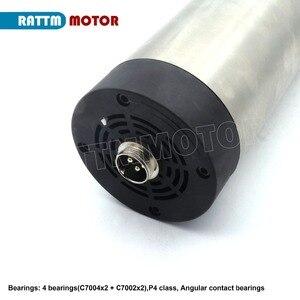 Image 5 - EU Free 1.5KW 220V ER16 iva raffreddato ad aria tornio CNC motore mandrino 24000 giri/min 4 cuscinetti 8A 80x200mm