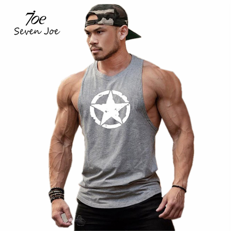 New men cotton sleeveless shirts tank top Fitness Bodybuilding workout gym vest