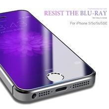 Verre trempé sur le pour Apple iPhone 5 S 5 SE protecteur décran 9H Anti lumière bleue Film de protection verre pour iPhone 5 SE 5C