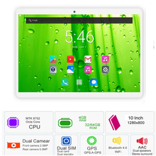 """2019 Newest 10 inch Tablet PC MTK8752 Octa Core 4GB RAM 64GB ROM Android 7.0 GPS Dual Camera 5.0MP 3G 4G LTE PC Tablet 10.1"""""""